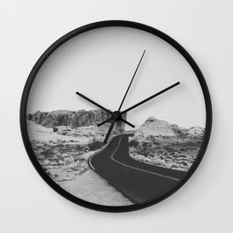 ROAD TRIP VIII / Valley of Fire, Nevada Wall Clock