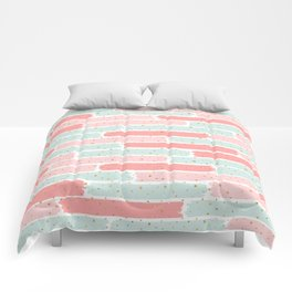 Pink & Green Geometric Gym Pattern Comforters