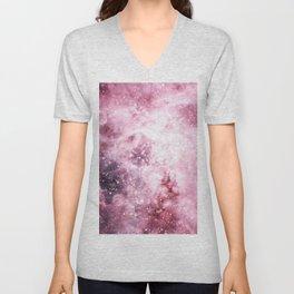 Pink Tarantuala Nebula Core Unisex V-Neck
