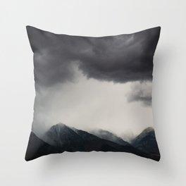 mountain storms  Throw Pillow