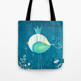 Little prince with a green crown Tote Bag