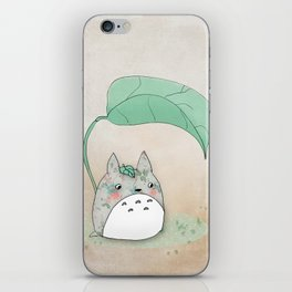 Floral Totoro iPhone Skin