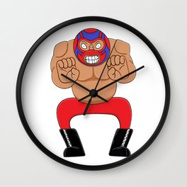 Angry wrestling Wall Clock
