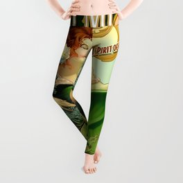 Vintage poster - Tempus Fugit Absinthe Leggings