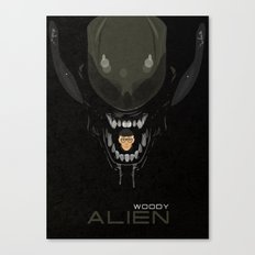 coupling up (accouplés) Woody Alien Canvas Print