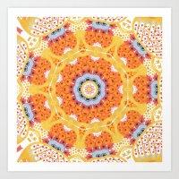 Watercolor Mandala VI Art Print