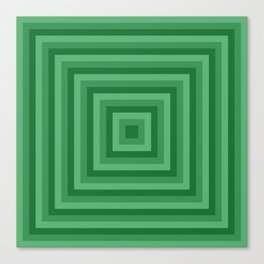 Green Squares Canvas Print
