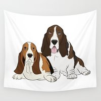 best friends Wall Tapestries featuring Best Friends by Rachel Barrett