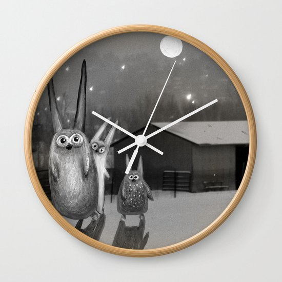 Night Scene Wall Clock