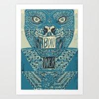 bon iver Art Prints featuring Bon Iver by BernardoMajer