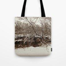 Snowy Creek View  Tote Bag