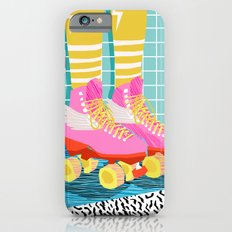 The Right Stuff - retro throwback 80s style rollerskates skating rink trendy 1980's iPhone 6s Slim Case