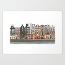 Prinsengracht Canal Amsterdam Art Print