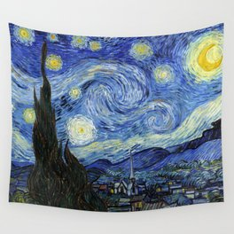 Vincent van Gogh Iconic Starry Night Wall Tapestry