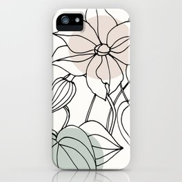Floral Linework with Color Pop iPhone Case