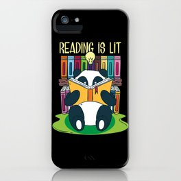Funny Reading Is Lit English Teacher Avid Tea Gift iPhone Case