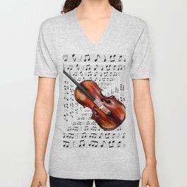 A soul like a violin string Unisex V-Neck