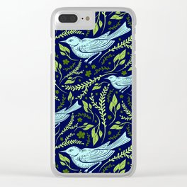 Thrush And Foliage I Clear iPhone Case