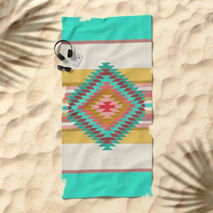 FIESTA (teal) Beach Towel