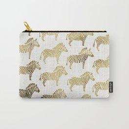 Golden Zebras Carry-All Pouch