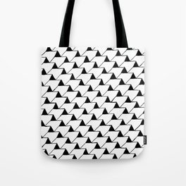 Black and White 3D Tote Bag
