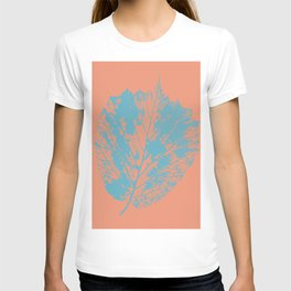 Autumn leaf blue T-shirt
