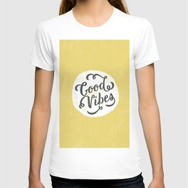 good vibes logo new art love cute 2018 2019 style yellow vibes beach new hot style fashion case cove T-shirt