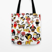the flash Tote Bags featuring Flash by Aurora Moreno Pavón