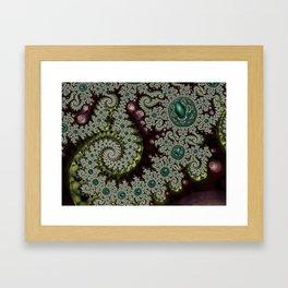 Caterpillar Fractal Framed Art Print