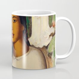 Mujer con Fiores (Bell Flowers, Dahlia & Calla Lilies) by Alfredo Martinez Coffee Mug