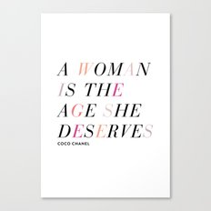 Age She Deserves Canvas Print