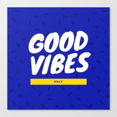 Good Vibes Retro Hipster Canvas Print