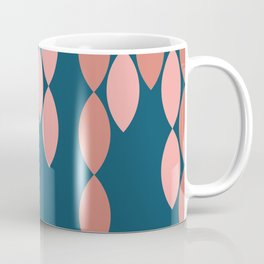 Streamers in Coral and Blue Coffee Mug