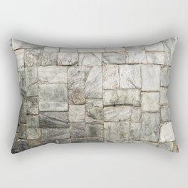 Grey Cold Stone Masonry Wall Rectangular Pillow