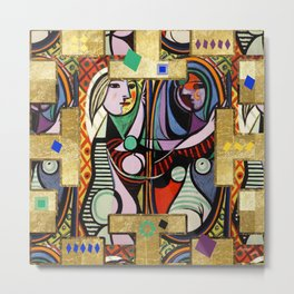 Picasso collage Metal Print