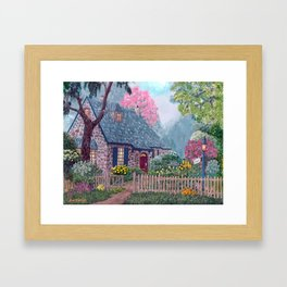 Essex House Cottage by Ave Hurley Framed Art Print