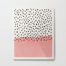 Rain, Abstract, Mid century modern kids wall art, Nursery room Metal Print