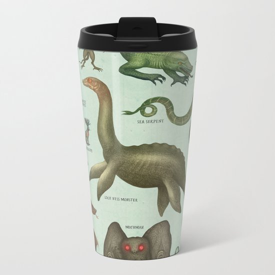CRYPTIDS Metal Travel Mug