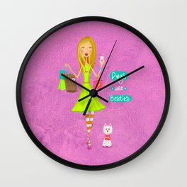 Dogs Are Besties Wall Clock