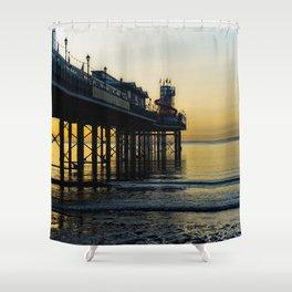 Paignton Pier At Sunrise Shower Curtain