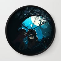 gravity falls Wall Clocks featuring Gravity by Larelley