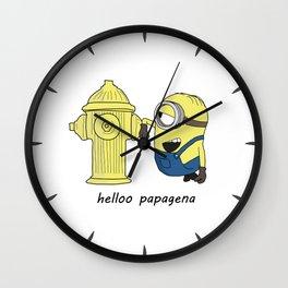 hello papagena Wall Clock