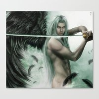 general Canvas Prints featuring General Sephiroth by K.Koji