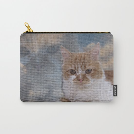 Dramatic Cat Face Carry-All Pouch