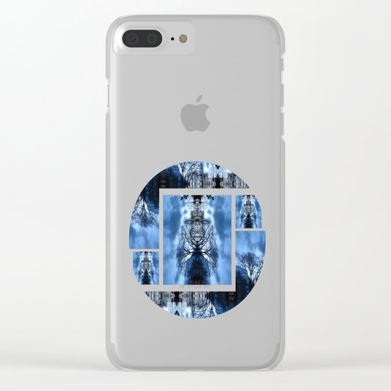 Tree Man Night photography Clear iPhone Case