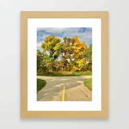 The Road to Fall Framed Art Print
