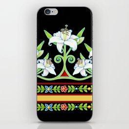 Elizabethan Lily Folkloric Stripe iPhone Skin