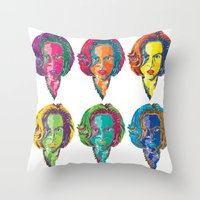 scully Throw Pillows featuring Dana Scully by Sam Del Valle