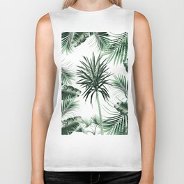 Tropical Summer Vibes Leaves Mix #2 #tropical #decor #art #society6 Biker Tank