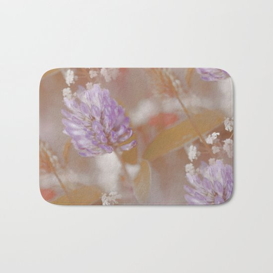 Flower Poetry In Nature Bath Mat
